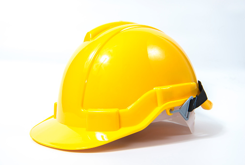 Hardhat「Yellow safety helmet on white background」:スマホ壁紙(8)