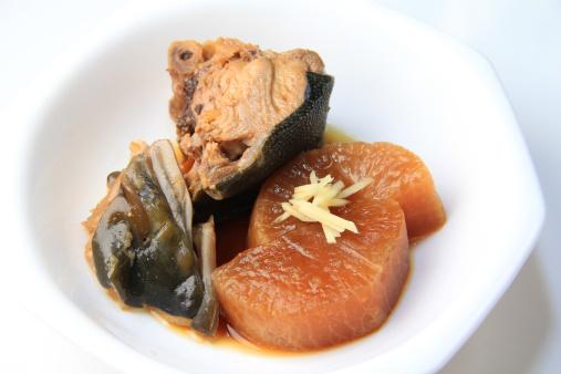 日本食「Buri daikon (Simmered yellowtail with radish)」:スマホ壁紙(8)
