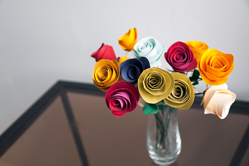 花瓶「Paper Flowers」:スマホ壁紙(18)