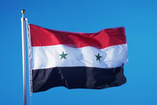 Pole「Flag of Syrian Arab Republic」:スマホ壁紙(12)