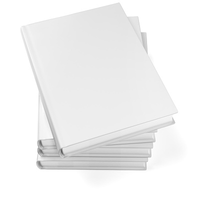 Template「Stacked blank books isolated on white」:スマホ壁紙(16)