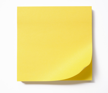 Adhesive Note「Stacked blank yellow sticky note on white background」:スマホ壁紙(2)