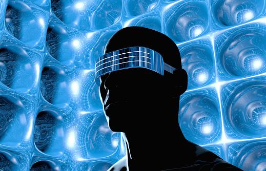 Virtual Reality「Man wearing Virtual Reality Glasses」:スマホ壁紙(15)
