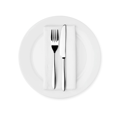 Plate「Dinner Setting - White Plate, Knife, Fork and Serviette」:スマホ壁紙(5)