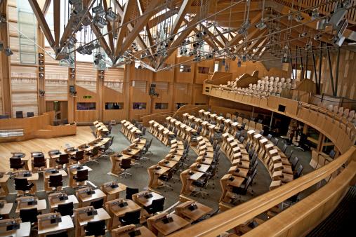 スコットランド文化「チャンバを決めかねのスコットランド議会、エジンバラ」:スマホ壁紙(3)