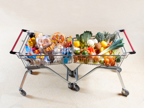 Snack「Healthy vs unhealthy shopping trolleys」:スマホ壁紙(0)