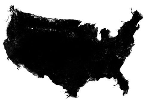 美術「米国地図グランジコピー」:スマホ壁紙(5)