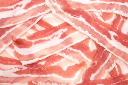 Raw Food「Raw Bacon Background」:スマホ壁紙(3)
