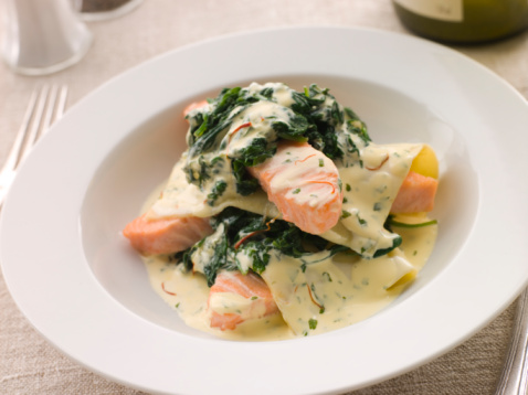 Tarragon「Open Lasagne of Salmon and Spinach with a Saffron Cream」:スマホ壁紙(7)