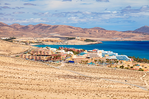 Atlantic Islands「View of Costa Calma resort, Fuerteventura, Canary Islands」:スマホ壁紙(7)