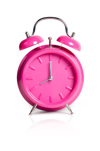 Time「Pink Alarm Clock w/Clipping Path」:スマホ壁紙(2)