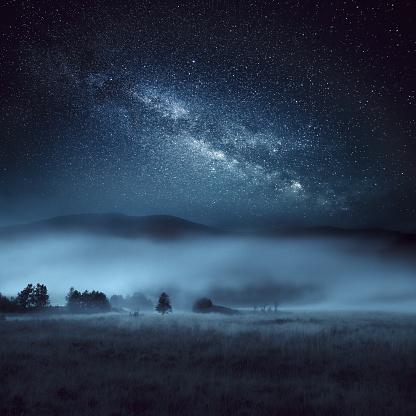 Woodland「Astrophotography, Milky Way, Scotland」:スマホ壁紙(15)