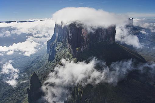 Montane Rainforest「Clouds covering top of a tepui in Venezuela」:スマホ壁紙(2)