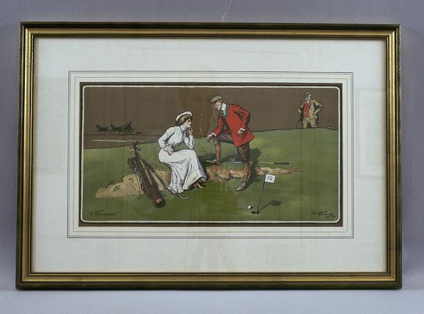 Sand Trap「'A Threesome', 1904. Artist: Lionel DR Edwards」:写真・画像(10)[壁紙.com]