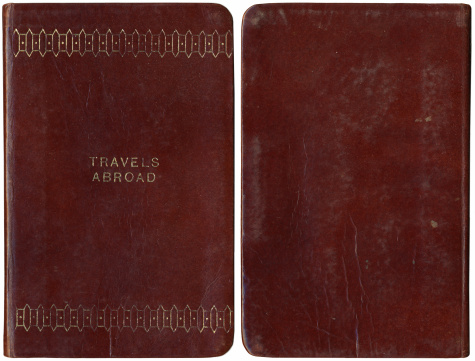 Diary「Vintage Travel Journal front and back」:スマホ壁紙(0)