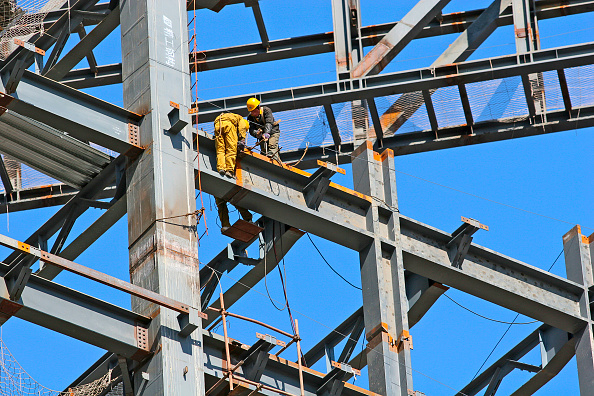 Construction Industry「Work on the super-structure of the New Polly Plaza building at Dongsishitiao in Beijing.」:写真・画像(14)[壁紙.com]