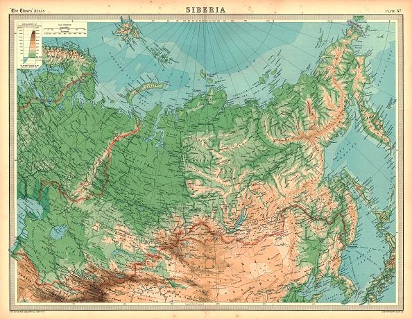 Kamchatka Peninsula「Map Of Siberia Artist Unknown」:写真・画像(4)[壁紙.com]
