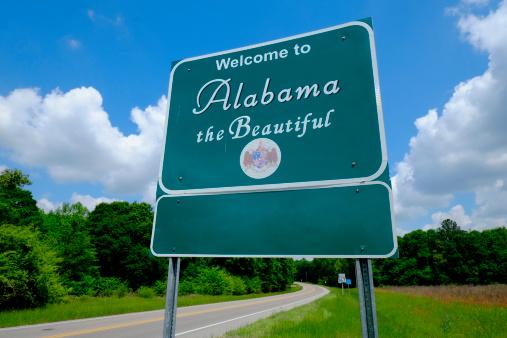 Gulf Coast States「Welcome to Alabama sign」:スマホ壁紙(1)
