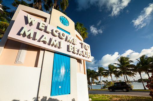 Miami Beach「フロリダ州マイアミビーチへようこそ。」:スマホ壁紙(7)
