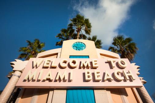 Miami Beach「フロリダ州マイアミビーチへようこそ。」:スマホ壁紙(5)