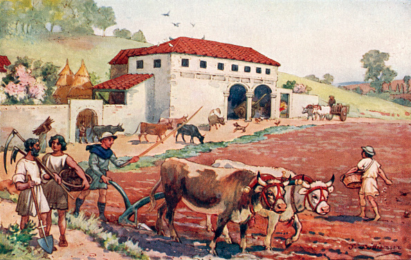 Agriculture「The Roman Empire - peasants farming and plowing the fields.」:写真・画像(14)[壁紙.com]