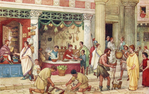 Heritage Images「The Roman Empire - street scene with vendors.」:写真・画像(1)[壁紙.com]