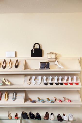 Shoe Store「Footwear on display rack in shoe store」:スマホ壁紙(8)