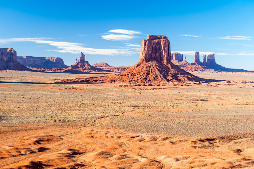 Plateau「USA, Arizona, Monument Valley Tribal Park, Buttes near The Mittens」:スマホ壁紙(12)