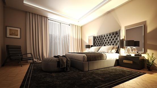 Master Bedroom「Luxury Master Bedroom Interior」:スマホ壁紙(6)