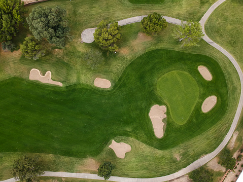Photography Themes「American golf course seen from the sky.」:スマホ壁紙(4)