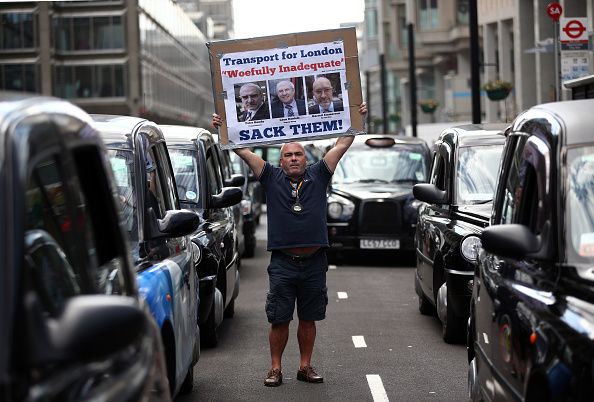 Finance and Economy「London's Black Cabs Protest Against Transport For London」:写真・画像(10)[壁紙.com]
