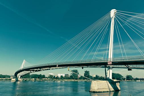 Footbridge「Bridge Passerelle des Deux Rives connecting the cities Kehl, Germany, and Strasbourg, France」:スマホ壁紙(3)