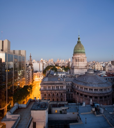 Buenos Aires「Argentinian Congress at dusk, Buenos Aires」:スマホ壁紙(5)
