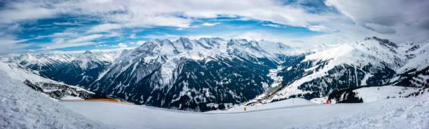 Ski slope at Hintertux Zillertal in Austria - panorama:スマホ壁紙(壁紙.com)