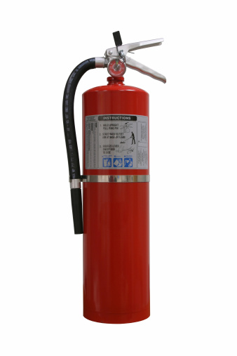 Emergency Services Occupation「Fire extinguisher on white background.」:スマホ壁紙(1)