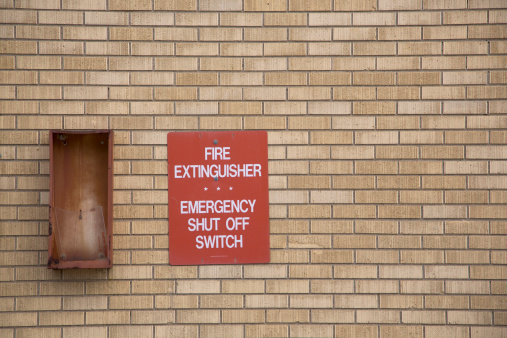 A Helping Hand「Fire extinguisher box and signage」:スマホ壁紙(8)