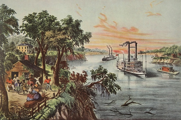 Chromolithograph「Low Water In The Mississippi」:写真・画像(15)[壁紙.com]