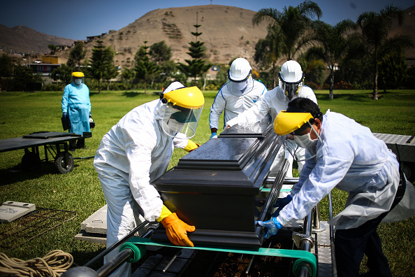 Place of Burial「Burial of Coronavirus Victims in Lima」:写真・画像(8)[壁紙.com]