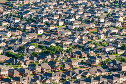 Unrecognizable Person「San Antonio suburban housing development - aerial view」:スマホ壁紙(19)