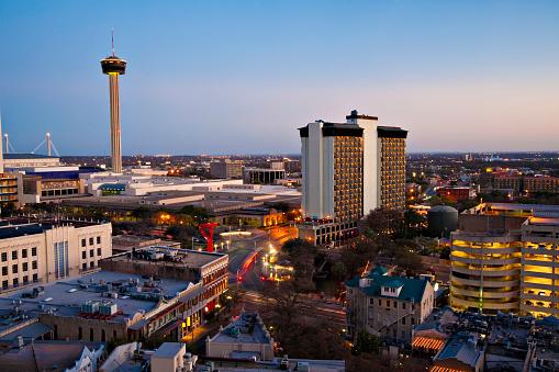 Boulevard「San Antonio skyline Aerial」:スマホ壁紙(0)