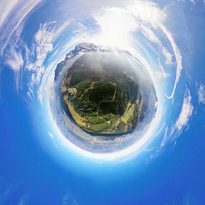 European Alps「Little planet aerial panorama of Rossfeld mountain panoramic road, Berchtesgaden, Germany」:スマホ壁紙(16)