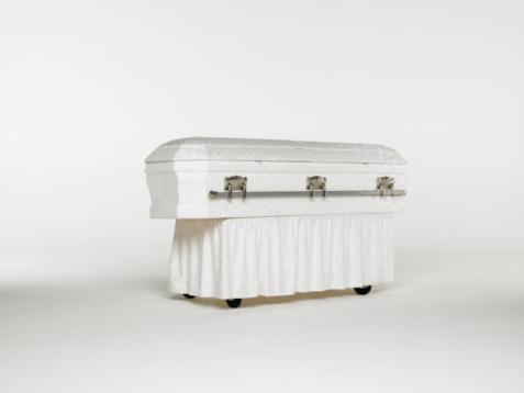 Funeral「Casket on white background」:スマホ壁紙(19)