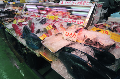 Japanese Language「Fish Market」:スマホ壁紙(0)
