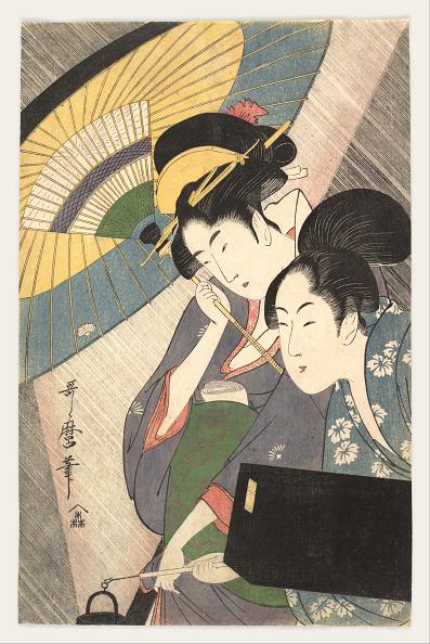 江戸時代「Two Women Under an Umbrella, 1790s」:写真・画像(11)[壁紙.com]
