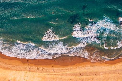 波「ビーチの上から」:スマホ壁紙(8)