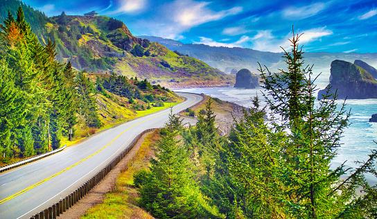 Cannon Beach「Oregon Coast Highway」:スマホ壁紙(9)