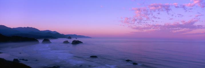 ビーチ「Oregon Coastline Sunset」:スマホ壁紙(6)