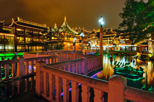 Yu Yuan Gardens「Yuyuan Gardens at night」:スマホ壁紙(16)