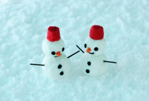 雪だるま「Two Snowmen 」:スマホ壁紙(10)