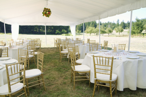 Wedding「Dining tables and chairs under canopy outdoors」:スマホ壁紙(8)